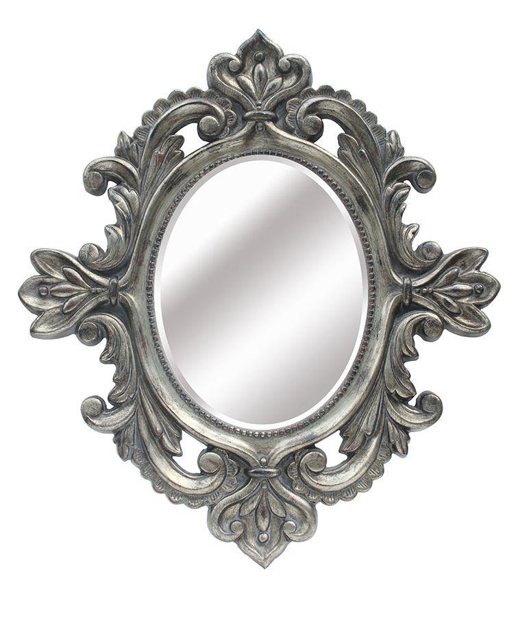 Espejo de resina dorado ovalado lleno de molduras - Espejos de resina ...