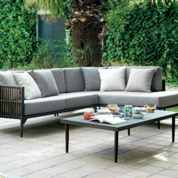 Mueble de terraza sofa chaise longue delta