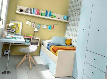 La cama nido de la habitación juvenil Kazzano 15